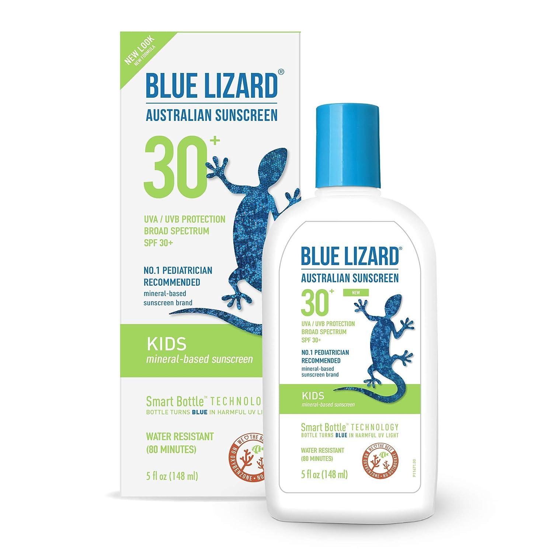 Blue Lizard Australian Sunscreen – Kids Sunscreen, SPF 30 Broad Spectrum UVA UVB Protection – 8.75 oz. Bottle