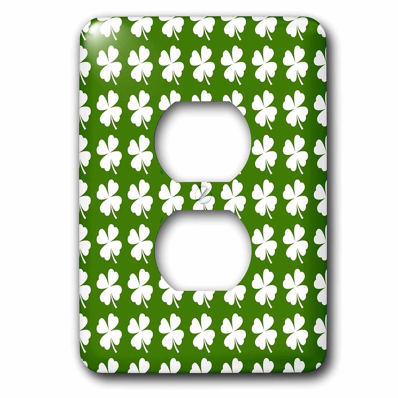 3dRose LSP/_242315/_6 Four Leaf Clover Pattern Plug Outlet Cover