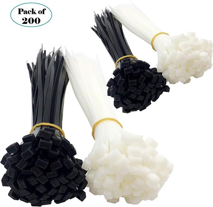Zip Ties Nylon Wrap 100 Pack Black Premium 300mm x 3.6mm Cable Ties
