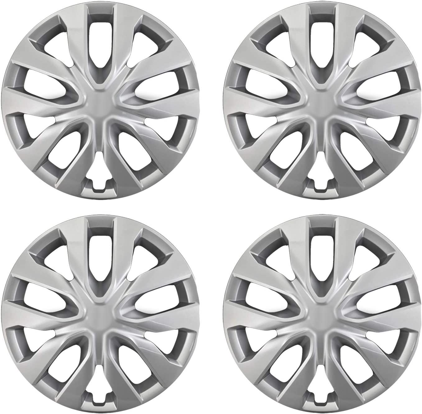 Amazon Com Mayde Hubcaps 16 Inch Titan Gray Metallic Wheel Covers Fits 16 Inch Wheels Set Of 4 Automotive