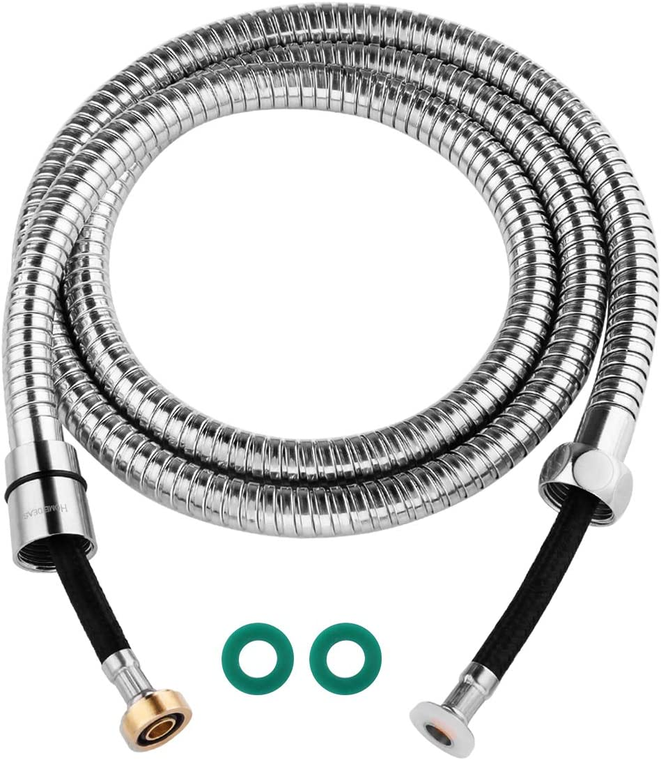 HOMEIDEAS 118-Inch(3m) Shower Hose Explosion Proof - 304 Stainless Steel Extra Long Shower Head Hose Replacement Handheld Shower Head Hose Extension