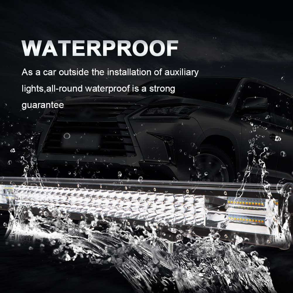 LED Light Bar 36 inch Safego 504W 40320LM Flood Spot Combo Dual Color Strobe Light Bar Flash Lights White /& Amber Triple Row Off-Road lights for Truck Boat F-ord Garden Lighting,1 Pack