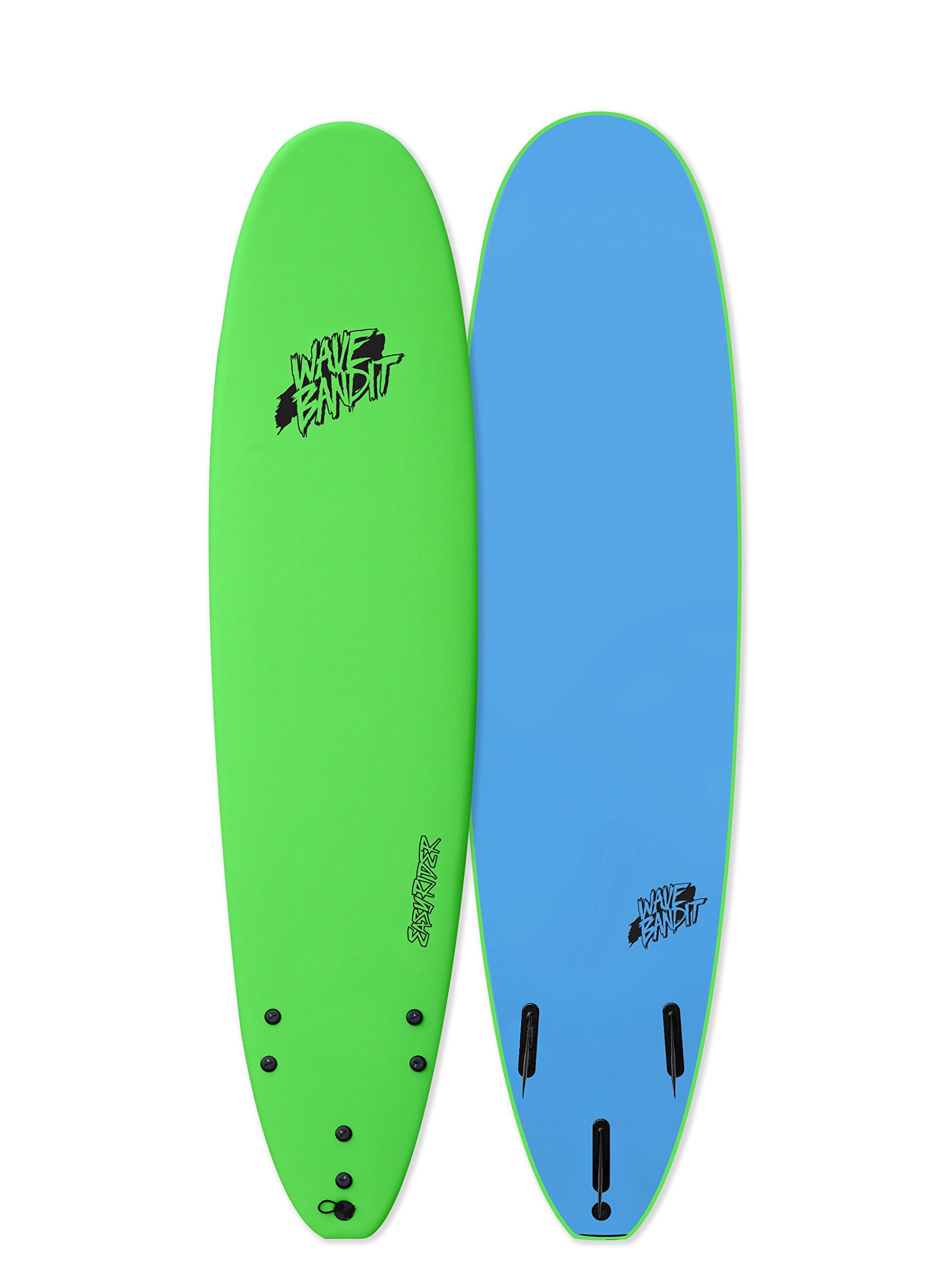 Wave Bandit Catch Surf EZ Rider 8'0'' Short Surf Board, Neon Green by Wave Bandit