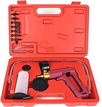 2 in 1 Brake Fluid Bleeder/&Hand Held Vacuum Pistol Pump Tester Kit Car Motobike