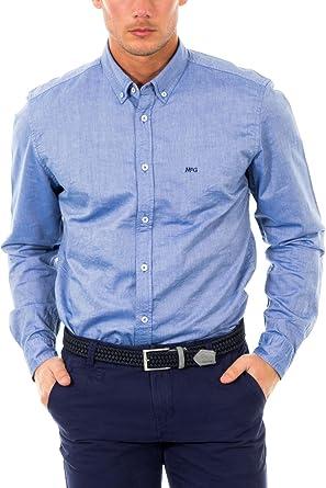 McGregor Camisa Hombre Shane Oxford A BD CF LS Azul Celeste XL: Amazon.es: Ropa y accesorios