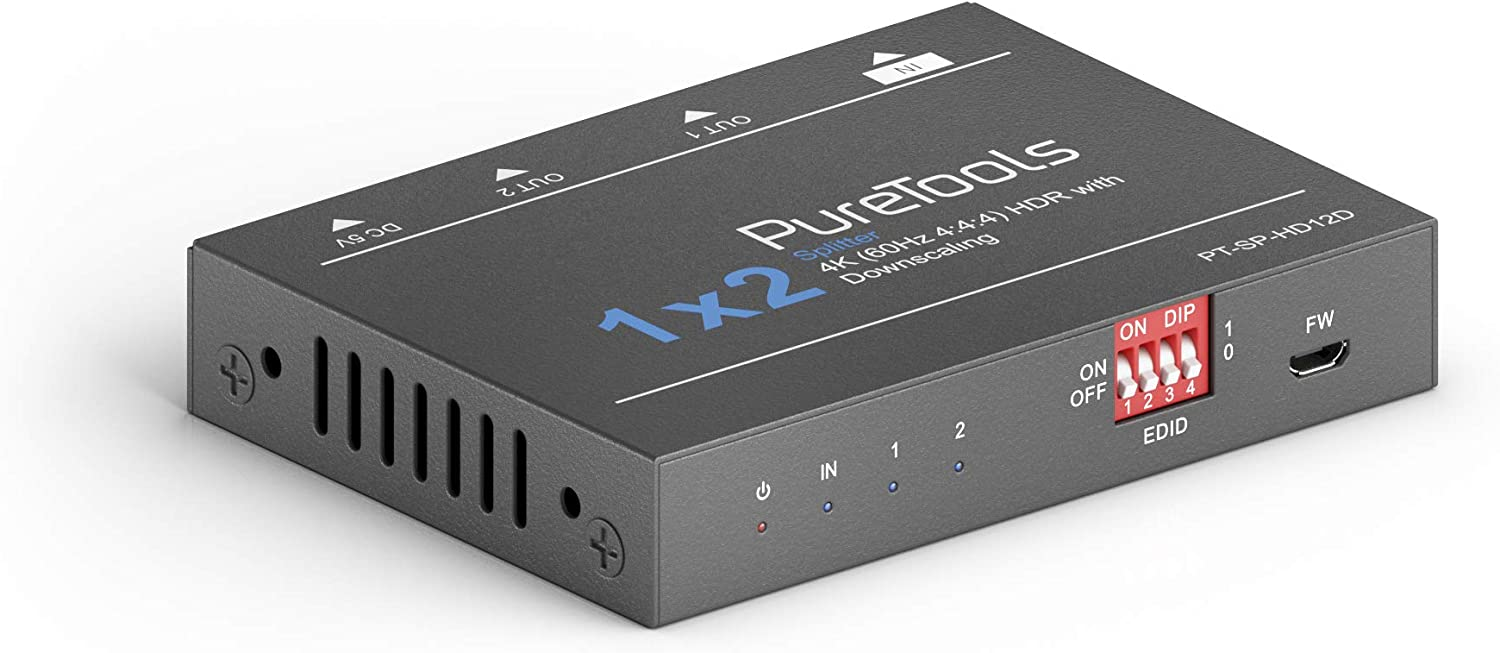 Puretools Sp Hd12d 4k Hdmi Splitter Downscaler With 2 Outputs Home Cinema Tv Video