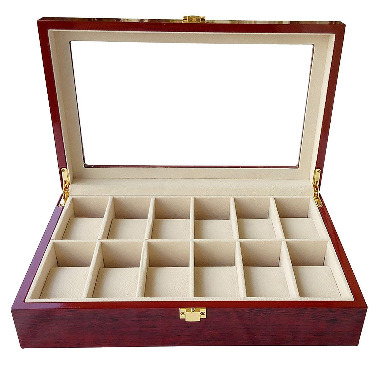 Feibrand Caja para 12 Relojes de Madera