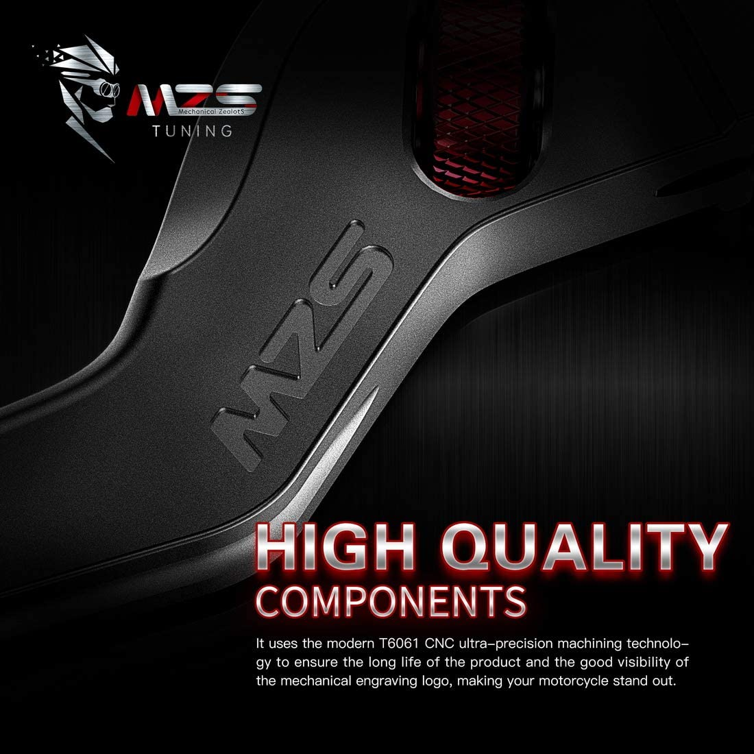 MZS Short Levers Brake Clutch Wheel Roller Adjustment Blue CNC Compatible with Vespa GT200 GTS250 GTS300 LX50 LX150 Primavera 50 150 S50 S150 Sprint50