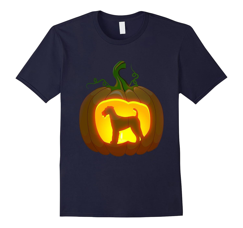 airedale terrier Pumpkin Halloween shirt-FL