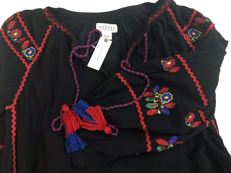 Amazon.com: Vestido de campesino bordado Anthropologie Loane ...