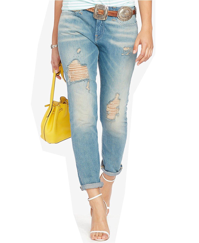 Polo Ralph Lauren Women's Astor Slim Boyfriend Jeans (26, Spring Blue)