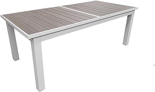 Tavoli Da Giardino In Alluminio.Tavolo Da Giardino Estensibile Struttura In Alluminio E Top