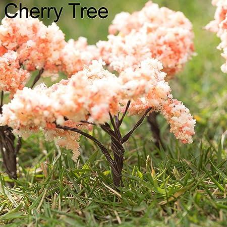 Steellwingsf - Figura Decorativa de árbol en Miniatura para jardín de Hadas, decoración al Aire Libre, decoración de muñecas, casa, Maceta, decoración para Manualidades, plástico y Metal, Cherry Tree: Amazon.es: Hogar