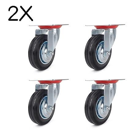 8 ruedas 125 mm ruedas de transporte carga pesada ruedas ruedas o para mueble (Chapa