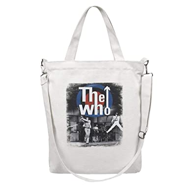 Womens Canvas Tote Handbags Casual Cross Body Shoulder Bag Rock and Roll Zipper Hobo bag