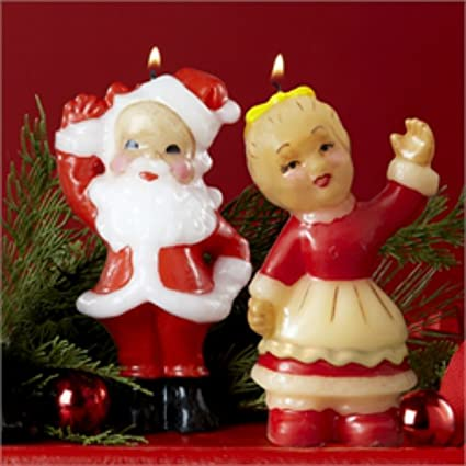 Amazon Com Mr Mrs Santa Claus Merry Christmas Retro Holiday
