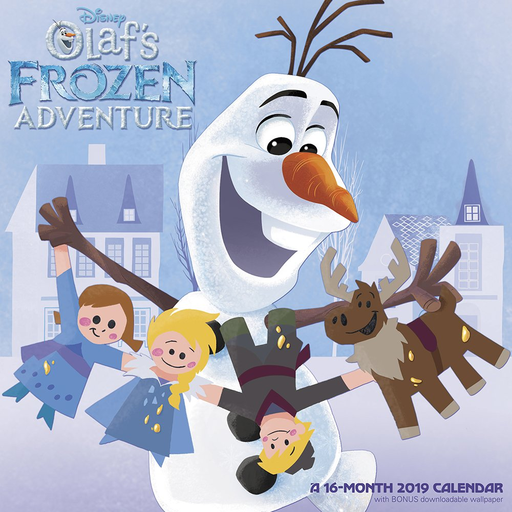 Amazon.com: Olafu0027s Frozen Adventure Wall Calendar (2019
