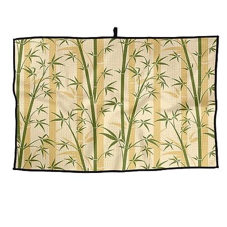 ZMLSJY Toalla de Golf de bambú árbol de Microfibra para Golf Toallas de Secado Húmedo para