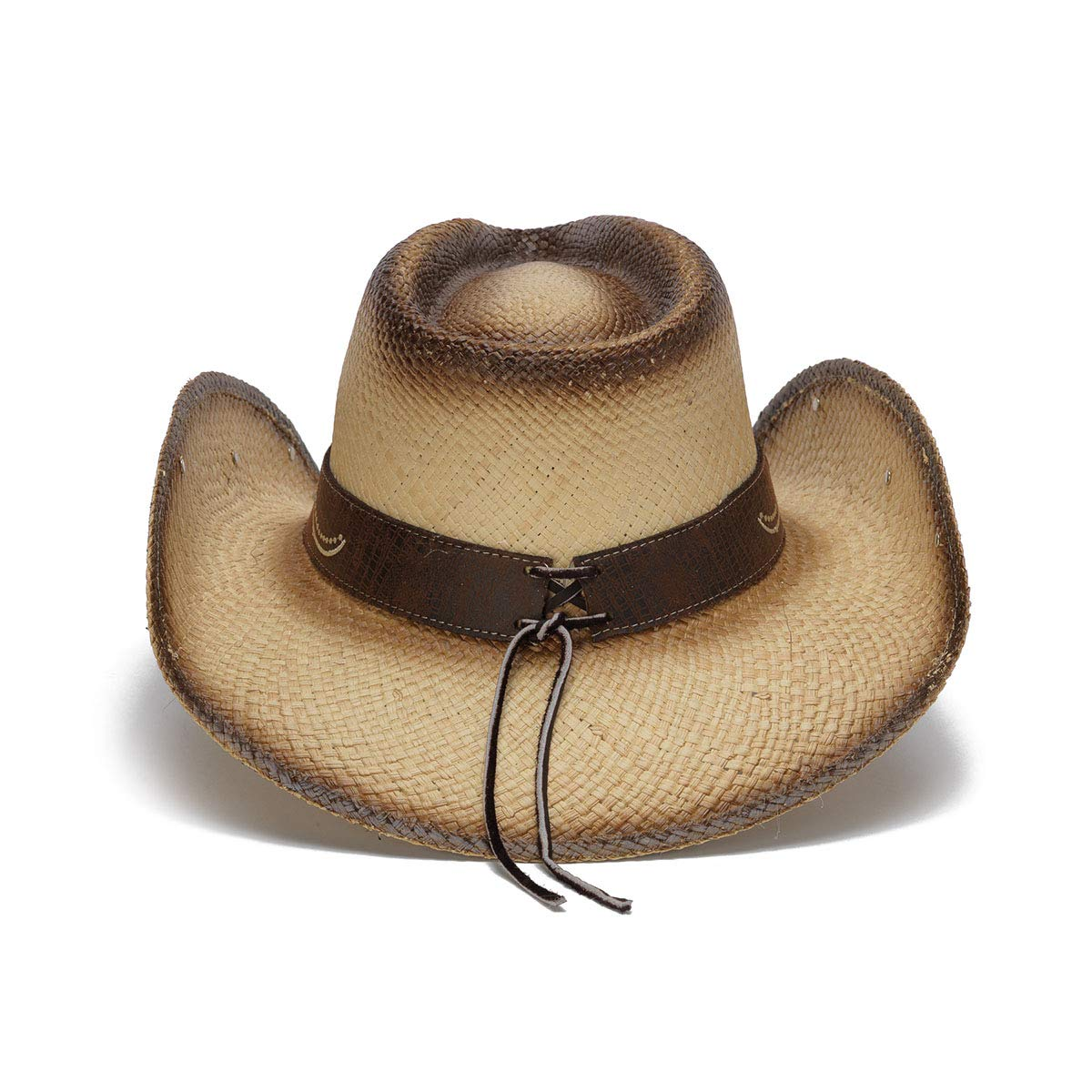 Stampede Hats Women's Sky Action Floral Embroidered Western Hat S Tea Stain by Stampede Hats (Image #4)