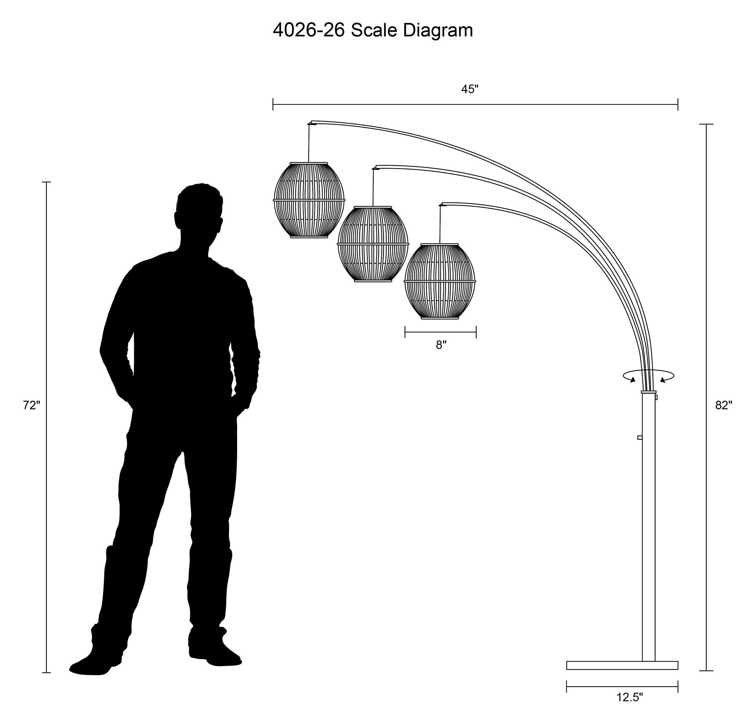 Adesso 4026-26 Maui 82'' Arc 3-Light Floor Lamp – Lighting Fixture with Antique Bronze Finish, Smart Outlet Compatible Lamp. Tools and Home Improvement by Adesso