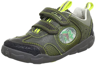 c7785e91960811 Clarks Boys  StompoJaw Inf Trainers Green Size  8.5  Amazon.co.uk ...