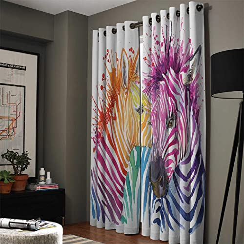 SODIKA Room Darkening Thermal Insulated Light Blocking Draperies Grommet Blackout Window Curtain