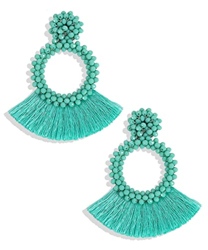 7d008f33f88a74 BEST LADY Tassel Earrings for Women - Statement Handmade Dangle Fringe  Earrings for Women, Idea