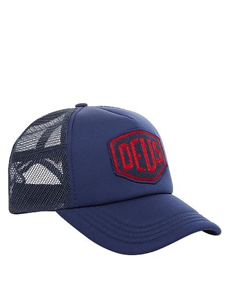 Deus Ex Machina gorra bordada con escudo de fieltro azul marino Talla única    Amazon.es  Ropa y accesorios 777244a8eae