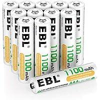 EBL AAA batterij 1100mAh 12 stuks - oplaadbare Micro AAA batterijen, lage zelfontlading, 1,2V AAA batterij