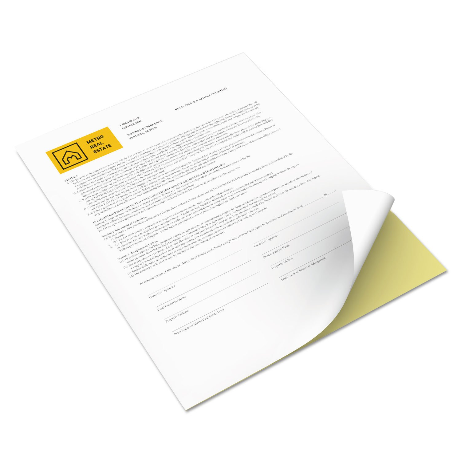 Xerox 3R12420 Revolution Digital Carbonless Paper, 8 1/2 x 11, White/Canary, 5,000 Sheets/CT by Xerox