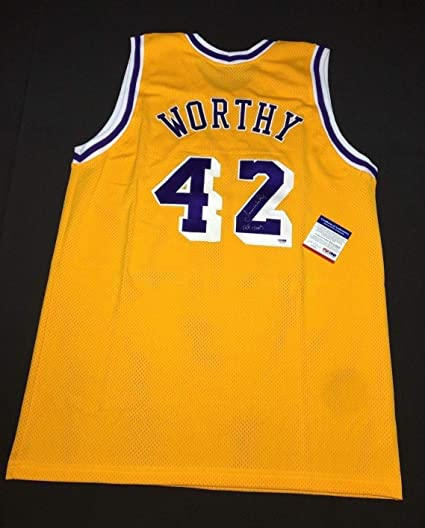 2d75d707bd8 James Worthy Autographed Signed Memorabilia Los Angeles Lakers Basketball  Jersey Hof 2003 PSA/DNA 4A34999