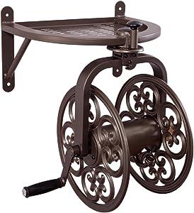 Liberty Garden 710 Navigator Rotating Garden Hose Reel, Holds 125-Feet of 5/8-Inch Hose - Bronze