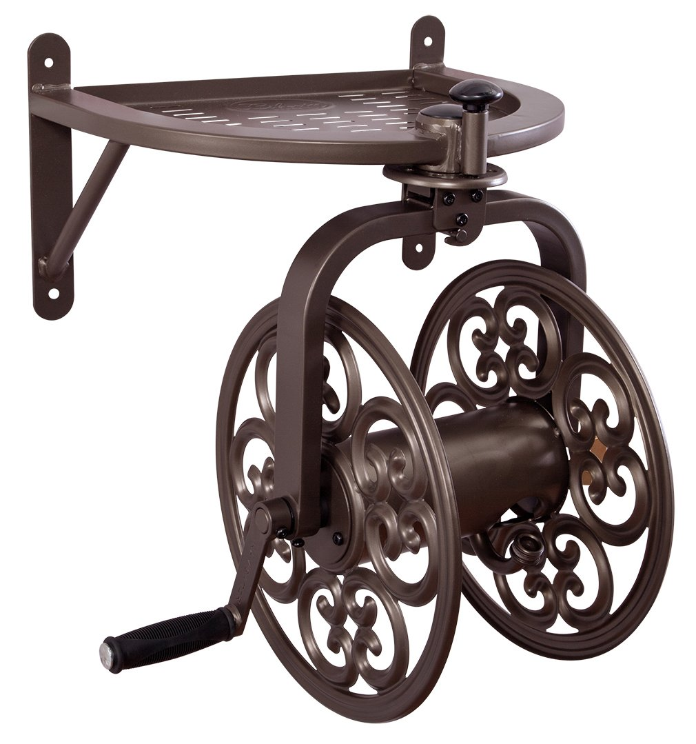 Liberty Garden 710 Navigator Rotating Garden Hose Reel, Holds 125-Feet of 5/8-Inch Hose - Bronze