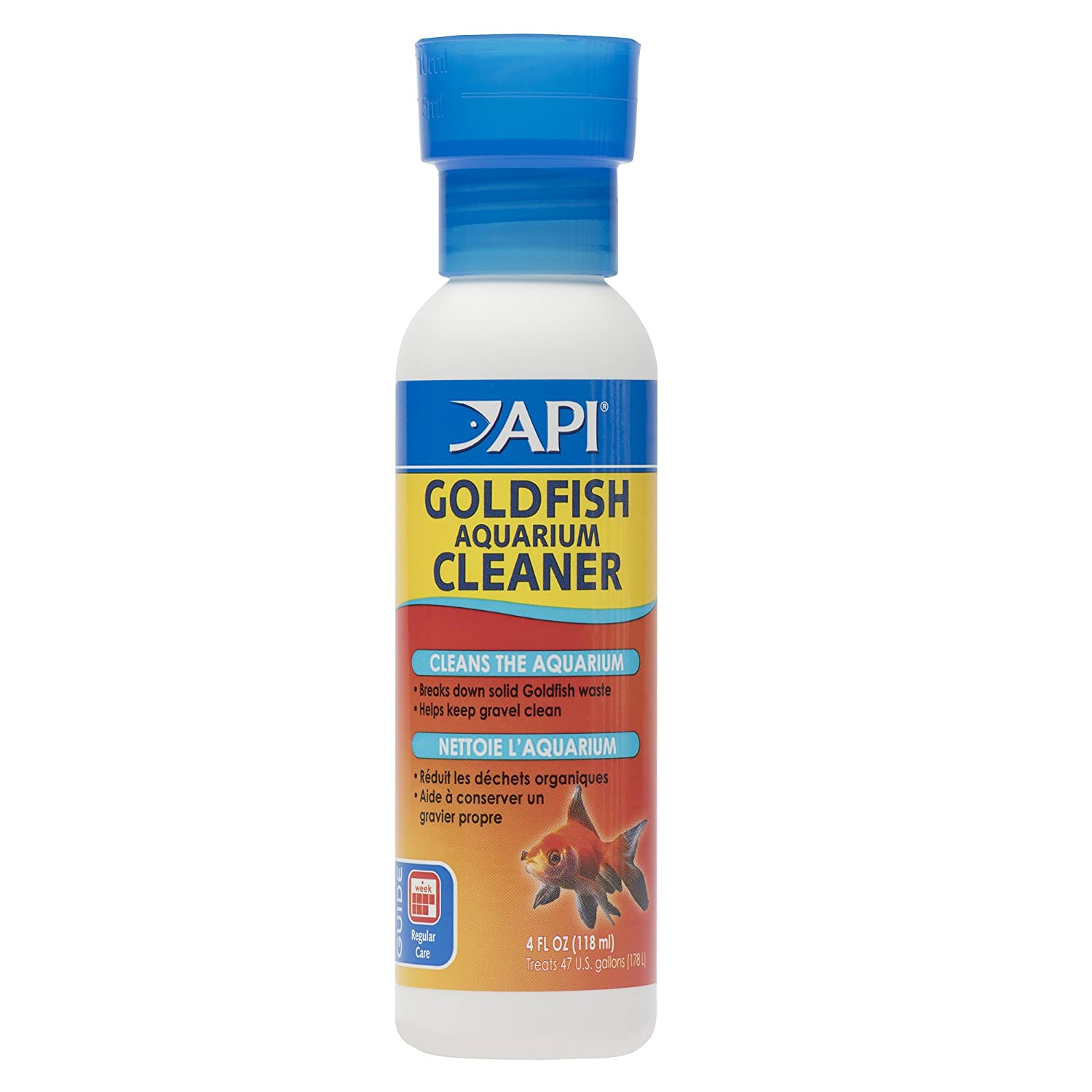 API GOLDFISH AQUARIUM CLEANER Aquarium Cleaner 4-Ounce Bottle 48B