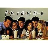 Empire 205445 Friends Groupe avec milkshakes Poster série TV 100 x 70 cm