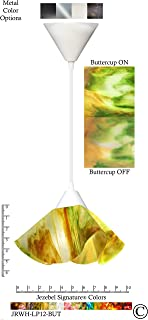 product image for Jezebel Signature Lily Pendant Small. Hardware: White. Glass: Buttercup