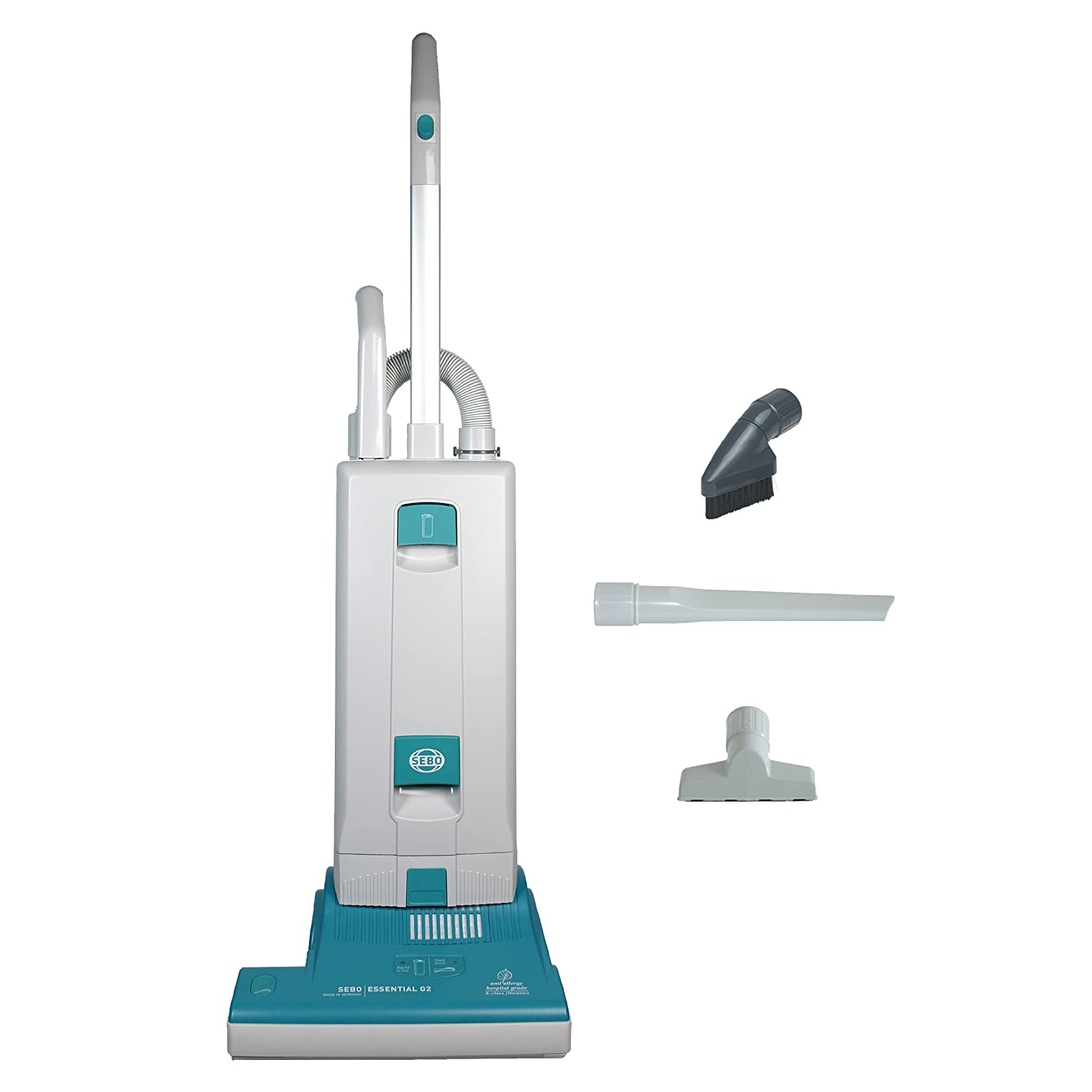 Sebo vacuum cleaners at bed bath and beyond - Amazon Com Sebo 9592at Essential G2 Upright Vacuum With 15 Inch Power Head Light Gray And Teal Household Upright Vacuums