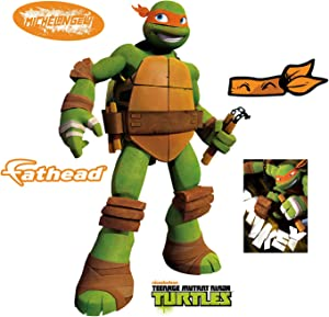 FATHEAD Michelangelo-Large Officially Licensed Nickelodeon Removable Wall Decal
