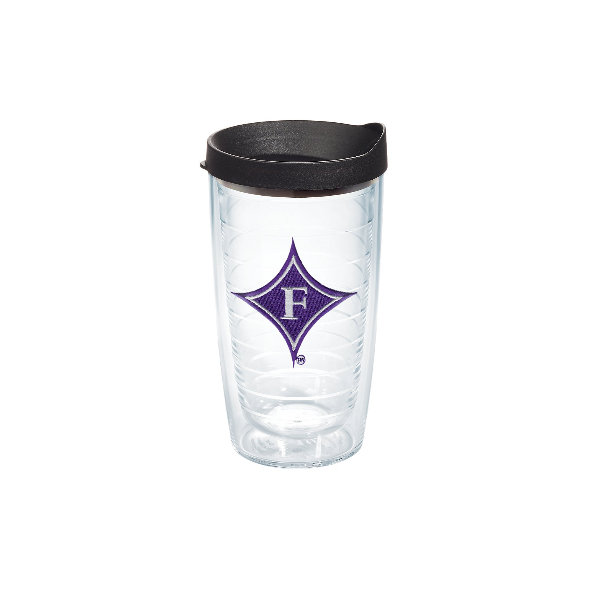 Tervis 1056582 Furman Paladins Logo Tumbler with Emblem and Black Lid 16oz, Clear