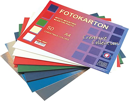 Vaessen Creative – Paquetes de Navidad Caja de cartón, Papel, A4, 50 Hojas, Multicolor: Amazon.es: Hogar