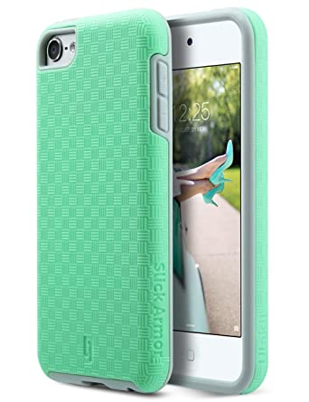 ULAK iPod 6 Case,iPod 5 Case,[ SLICK ARMOR ] Slim-Protection