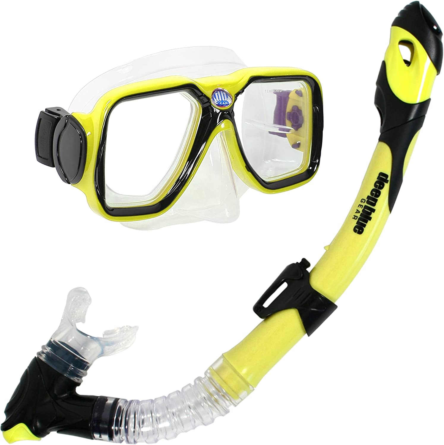 Deep Blue Gear Maui Ultra Dry Diving Mask and Dry Snorkel Set, Adult