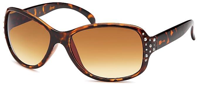 Vintage Sonnenbrille mit Metallbügel (demi braun/braun verlaufend) s7RFXXT