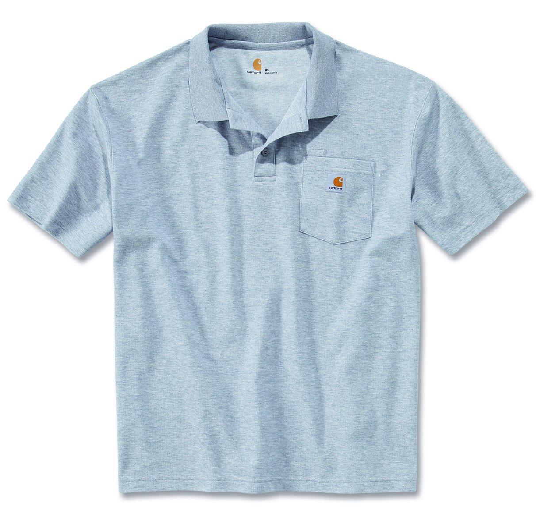 Carhartt Contractors Work Pocket Polo Shirt Bleu foncé XL 78jSBSXXec