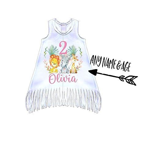Young Wild /& Three Dress Birthday Girl Dress Third Birthday Fringe Dress Toddler Girl Dress Unique Dress Boho Baby Clothes Bohemian Dresses