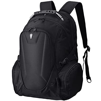 8275cfbed9d7 Victoriatourist VE-V6002B Laptop Backpack Notebook Rucksack with  Electronics Sleeve for 16 inch Computer and iPad, Black