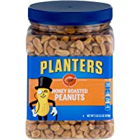 PLANTERS Honey Roasted Peanuts, 34.5 oz. Resealable Jar | Premium Quality Peanuts | Sweet and Salty Snack | Sweet Peanut Snack | Nutritious Snacks & Nuts | Wholesome Snacking | Kosher