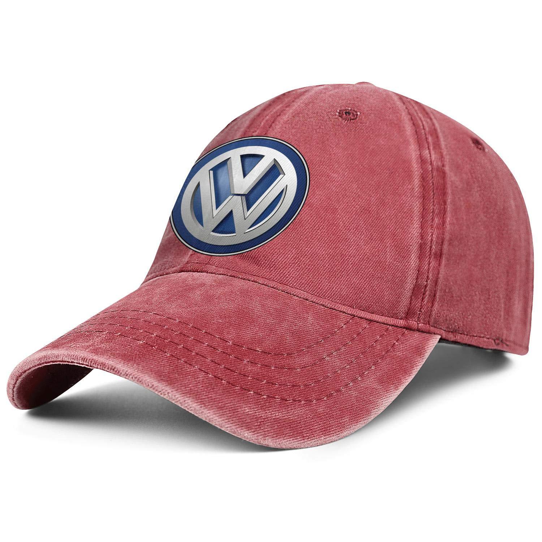 QFPMZJUIE Mens Womens Hat Volkswagen-Logo Snapback Hats Baseball Denim Cap Funny Caps
