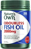 Nature's Own Odourless Fish Oil 2000mg - Source of Omega-3 - Maintains Wellbeing - Supports Healthy Heart and Brain, 200…