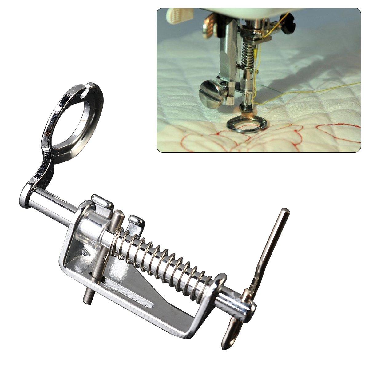 Prensatelas para m/áquina de coser de metal de 3piezas para todos los tipos de v/ástago bajo Brother Singer Babylock Janome y m/ás m/áquinas de coser-incluye dedo cerrado,puntera abierta y pie acolchado